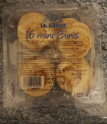Mini Blinis x 10 - Ingredients - fr