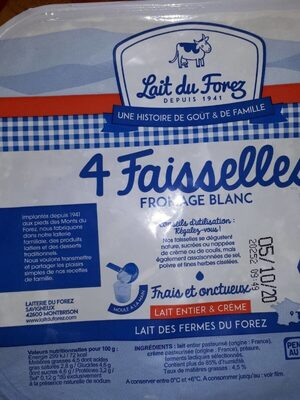 Faisselle fromage blanc - Nutrition facts