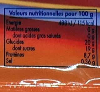 blanc en neige - Informations nutritionnelles - fr