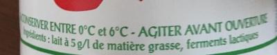 Laben lait fermenté - Ingrédients - fr