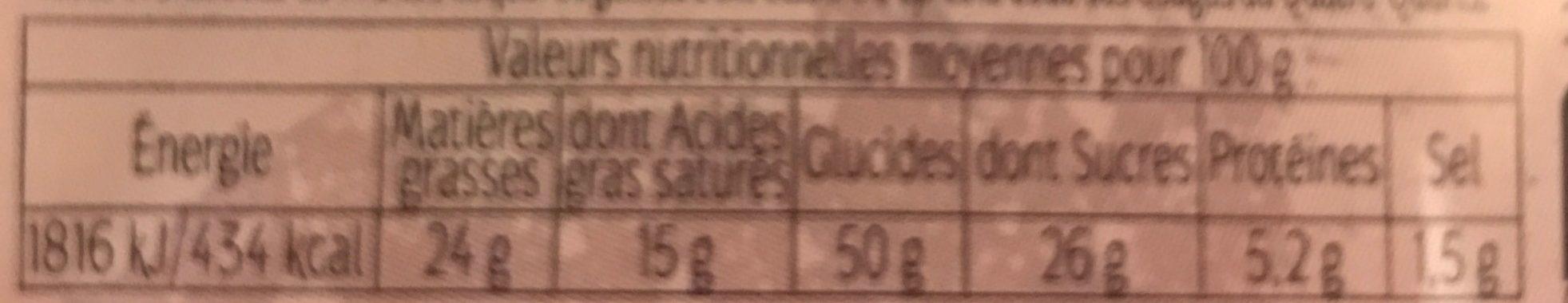Quatre Quarts Pur Beurre Long - Informations nutritionnelles - fr