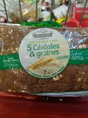 Pain au levain 5 céréales & graines - Product - fr