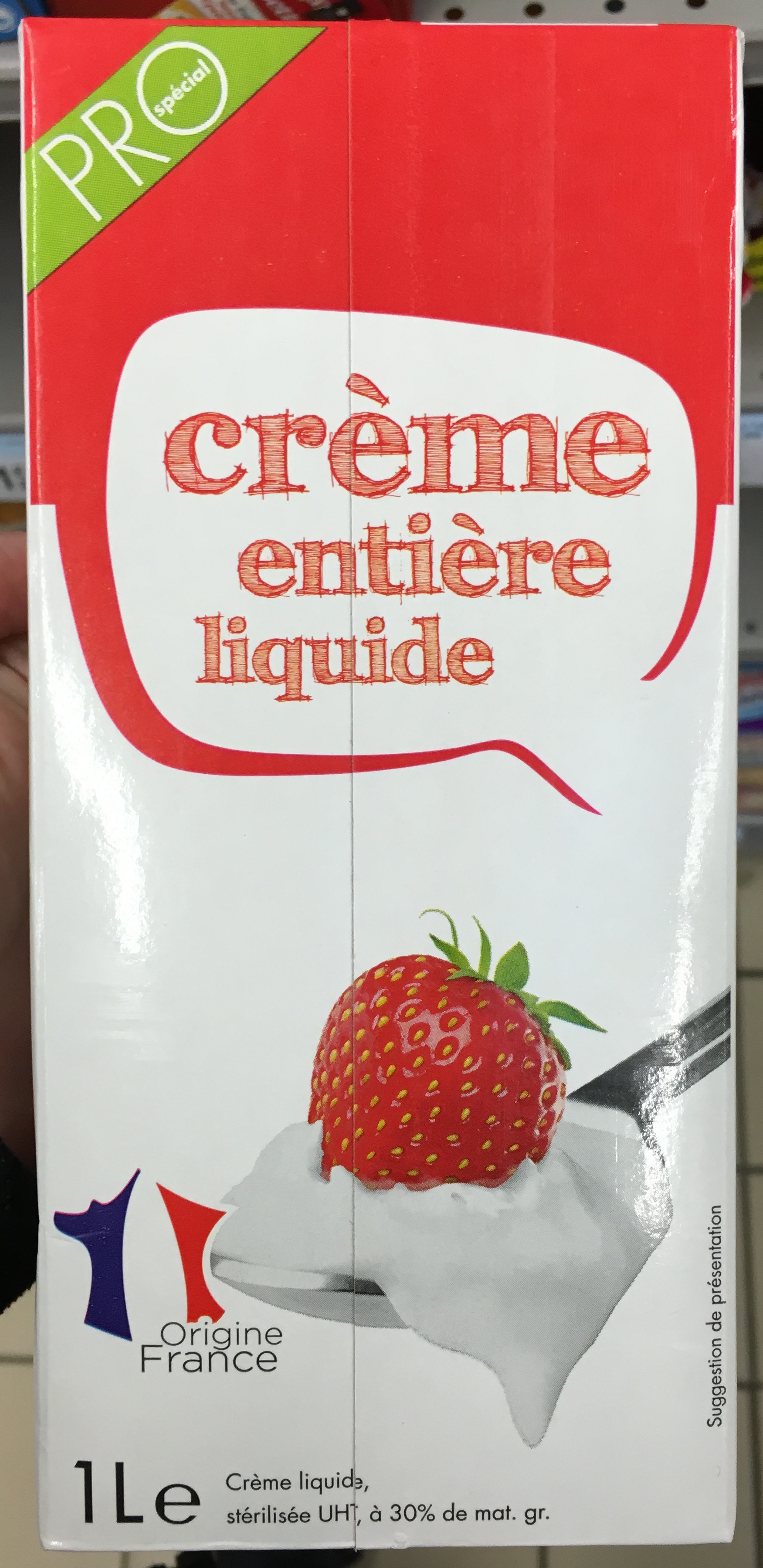 0ef211049fb Crème entière liquide (30 % MG) - Sans marque - 1 L