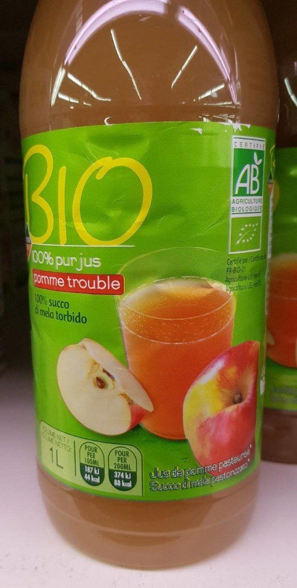 Bio 100% pur jus pomme trouble - Produit - fr