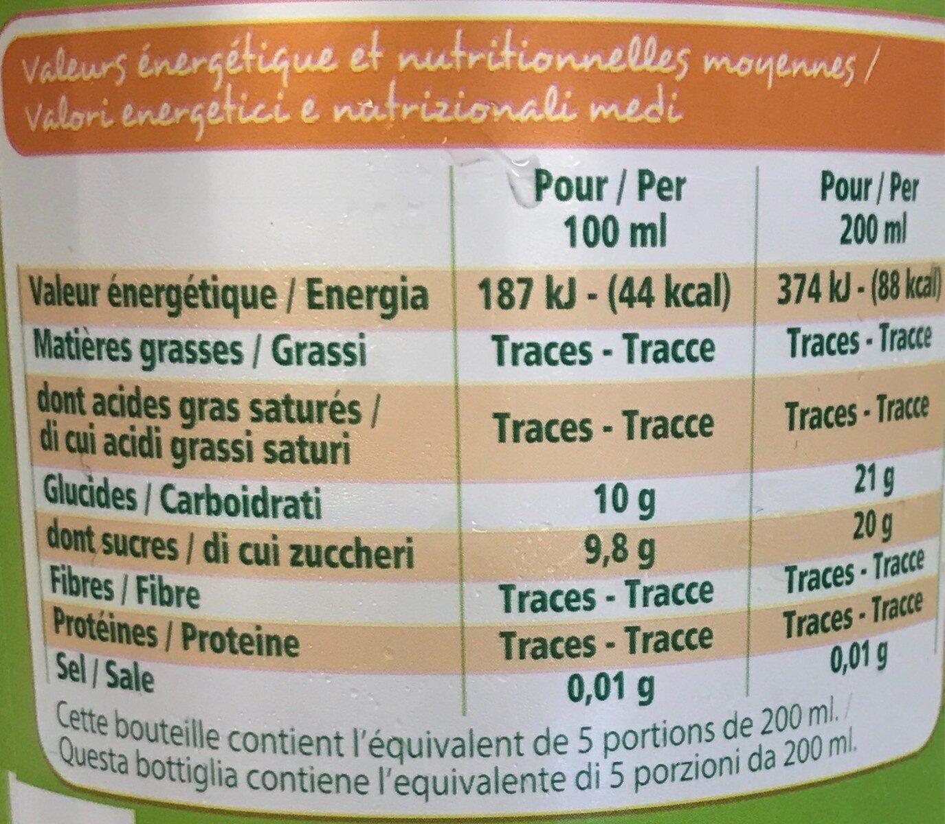 Bio 100% pur jus pomme trouble - Informations nutritionnelles - fr