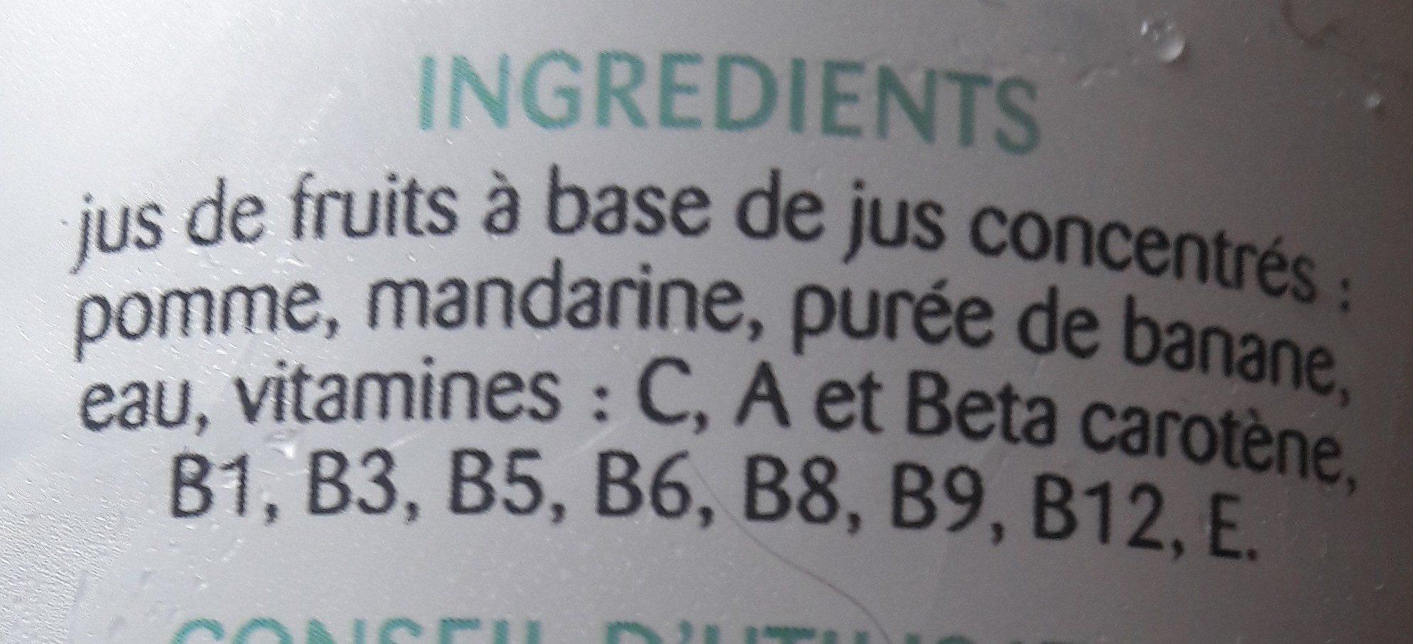 Multifruits - Ingrediënten