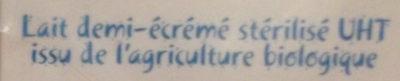 Lait demi-écrémé - Ingrediënten - fr