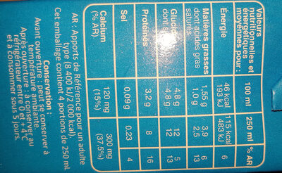 lait - Ingredients - fr
