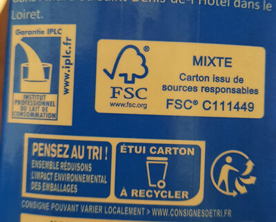 lait - Recycling instructions and/or packaging information - fr