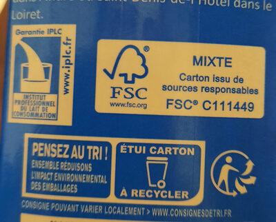 Lait demi-écrémé stérilisé UHT - Recycling instructions and/or packaging information - fr