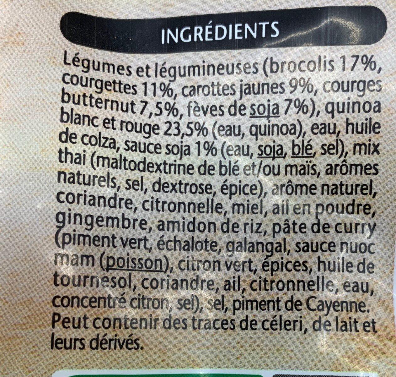 Légumes et Quinoa - Ingredients