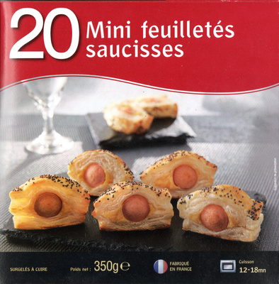 20 Mini feuilletés saucisses - Product