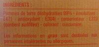 Purée de pommes de terre déshydratées en flocons - Ingredients - fr