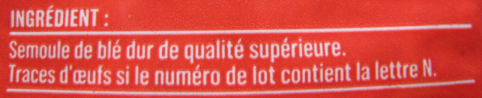 Cheveux d'Ange (Al dente 3 min.) - Ingredients - fr