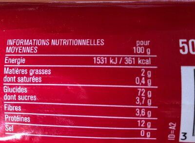 Spaghetti - Nutrition facts - fr