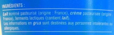 Fromage blanc 2,8% de matière grasse Monoprix - Ingredients - fr