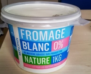 Fromage blanc nature 0% - Product - fr