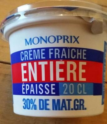 Crème fraîche entière épaisse (30% M.G) - Product - fr