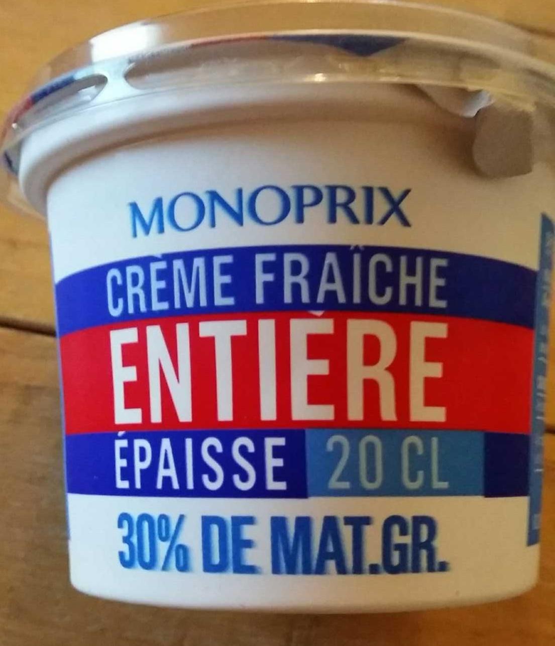 Crème fraîche entière épaisse (30% M.G) - Product