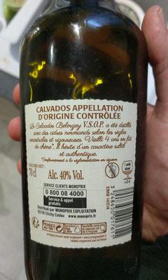 Vieux calvados du pays d'Auge , élevé en fût de chêne - Valori nutrizionali - fr