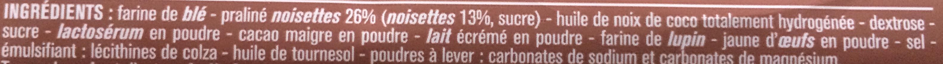 Gaufrettes Fourrées Praliné - Ingrediënten