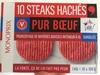 10 Steaks Hachés Pur Bœuf Surgelés - Produit