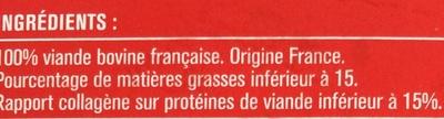 10 Steaks Hachés Pur Bœuf Surgelés - Ingredienti - fr