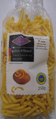 Pâtes d'Alsace (7 œufs frais au kilo), Macaroni - Produit