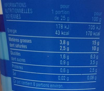 Crème Fraîche Légère - Informations nutritionnelles