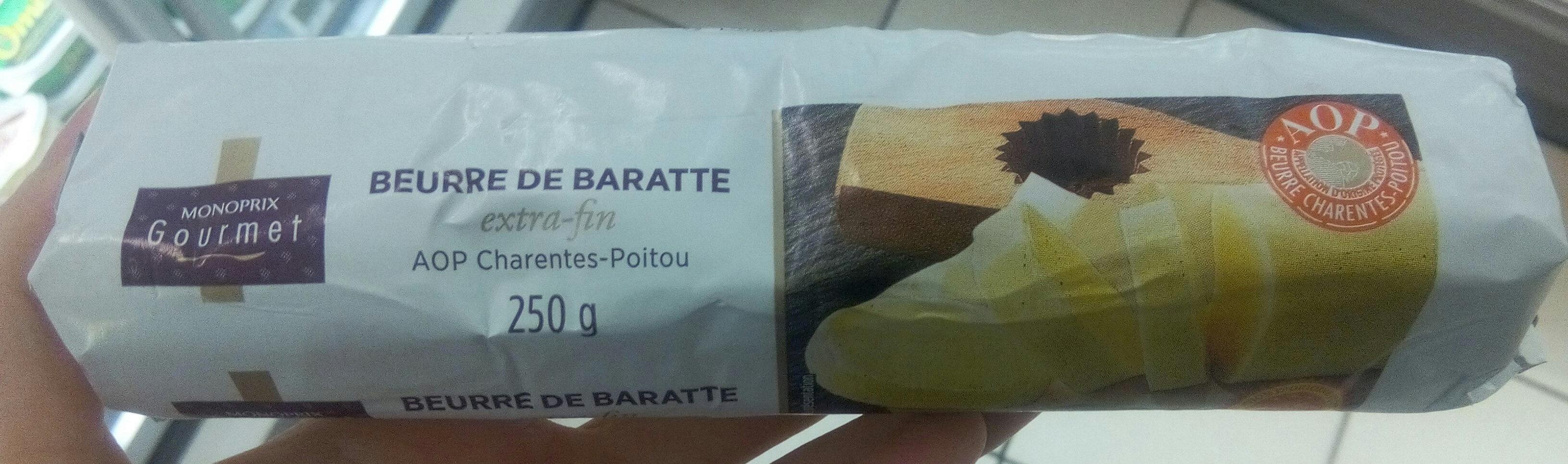 Beurre de baratte extra fin AOP Charente Poitou Monoprix Gourmet - Product