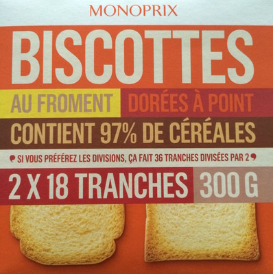Biscottes au froment - Produit - fr