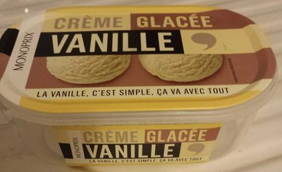 Crème glacée vanille - Produit
