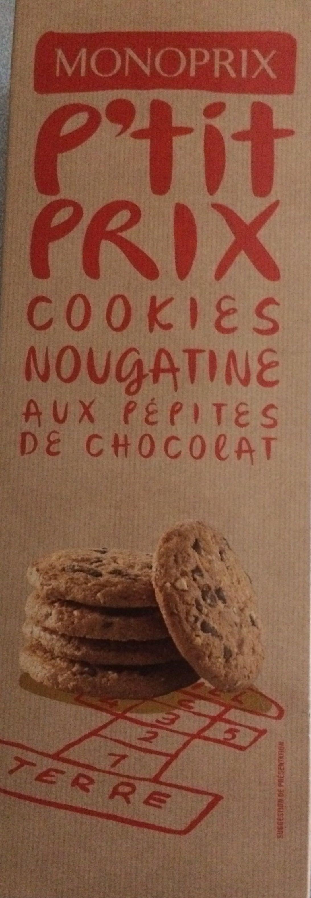 Cookies Nougatine Aux Pépites de Chocolat - Produit