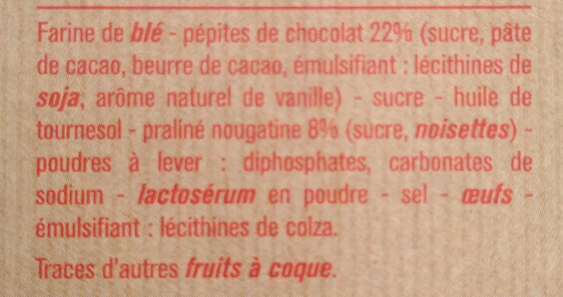 Cookies Nougatine Aux Pépites de Chocolat - Ingrédients