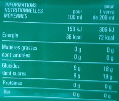 Soda Lemon Lime - Nutrition facts - fr