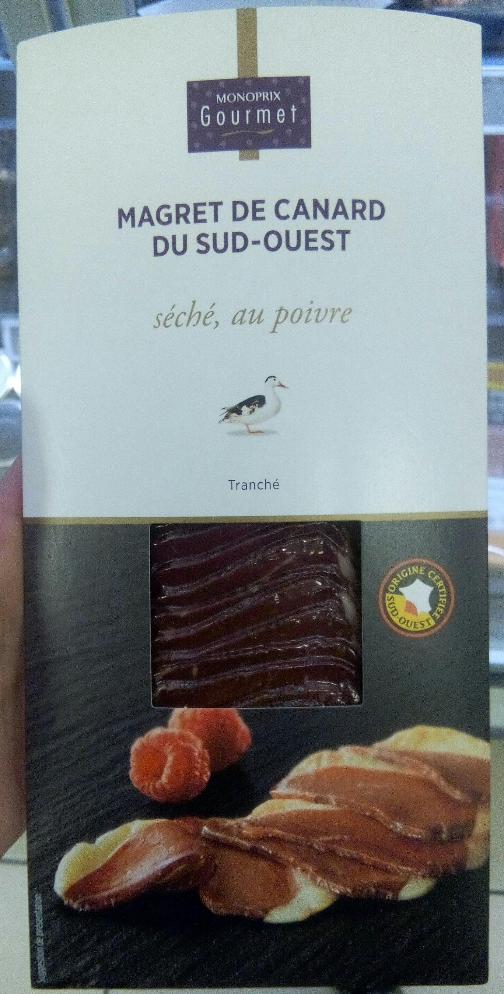 Magret de canard, tranché et séché au poivre, origine Sud-Ouest - Produit