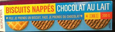 Biscuits nappés chocolat au lait - 产品 - fr