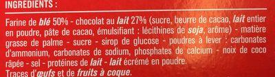 Biscuits nappés chocolat au lait - 成分 - fr