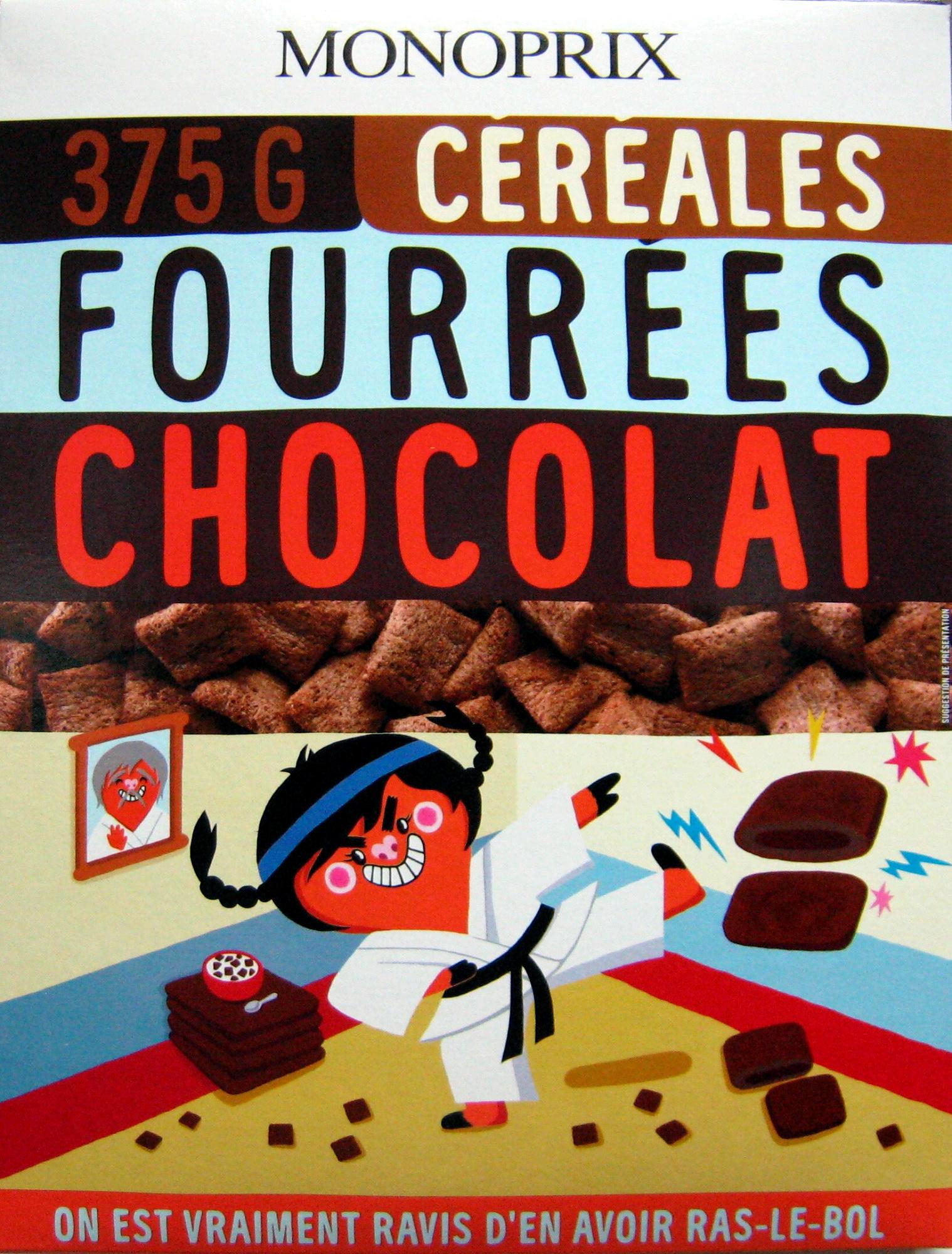 Céréales fourrées chocolat - Produit