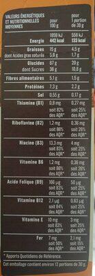 Fourrées chocolat - Informations nutritionnelles - fr