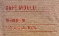 Café robuste moulu - Nutrition facts