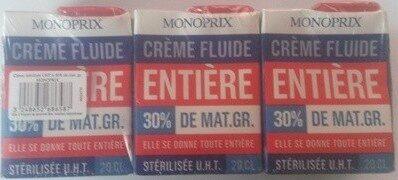 Crème Fluide Entière (30 % MG) - Produit - fr