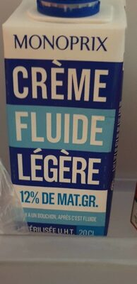 Crème fluide legere 12% - Produit - fr
