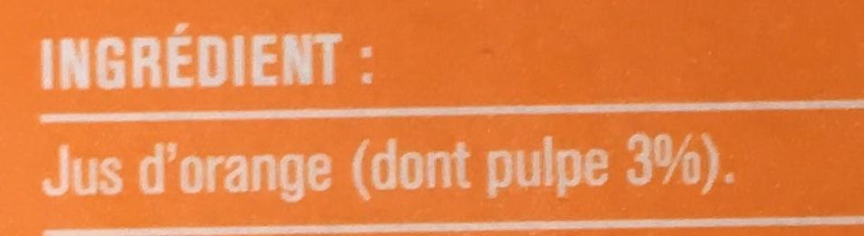 Premium 100% Jus d'orange - Ingrediënten - fr