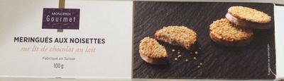 Meringués aux noisettes sur lit de chocolat au lait - Produit - fr