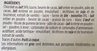 Meringués aux noisettes sur lit de chocolat au lait - Ingrédients - fr
