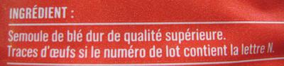 Nouilles - Ingredients - fr
