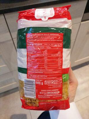 Nouilles - Nutrition facts - en