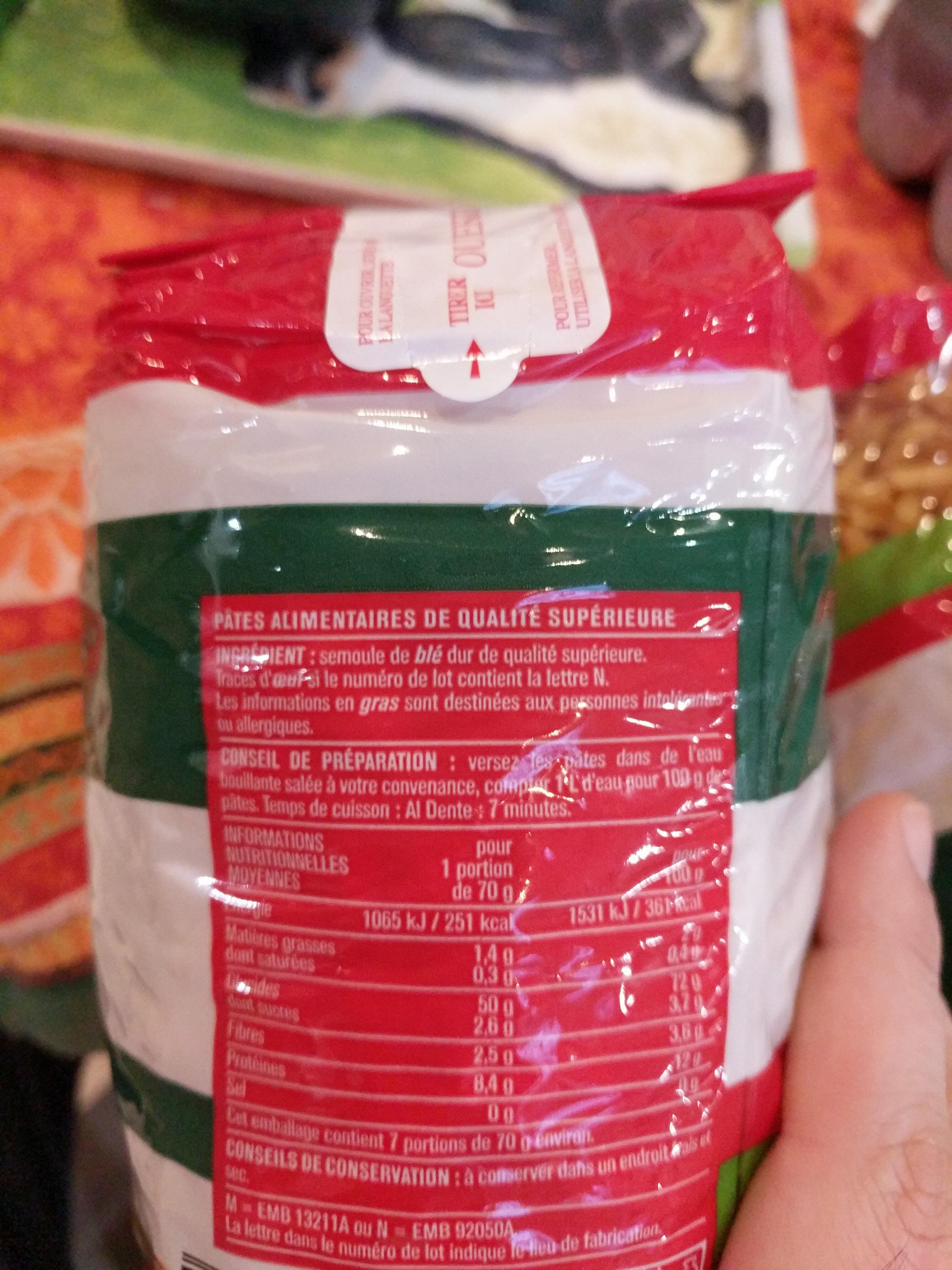 Nouilles - Informations nutritionnelles - fr