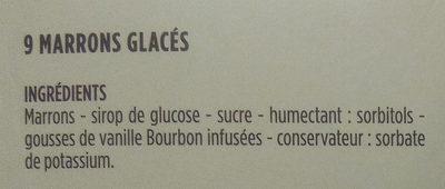 Les Marrons Glacés - Ingredients